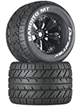Duratrax Bandito MT 3.8 Mounted 1/2 Offset Tyre (Set of 2), Black