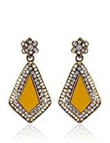 Alloy Earring With Lct/Yellow Colour Stone