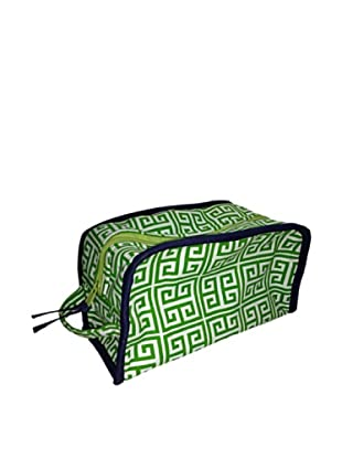 Malabar Bay Greek Key Dopp Kit, Green