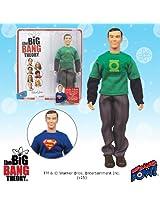 Big Bang Theory Sheldon Green Lantern/Superman 8-Inch Figure