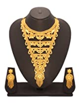 Vendee Fashion Long 1-gram Gold-plated Necklace Set