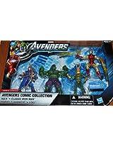 Marvel Avengers Comic Collection 4 Action Figure 4Pack Hulk Classic Iron Man Ha