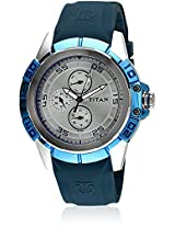 Titan Octane Analog Silver Dial Men's Watch - 9467KP01