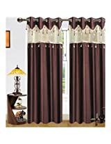 Sai Arpan Designer Brown Door Curtain -1 Pc
