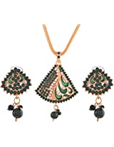 Ganapathy Gems Gold Plated Pendant Set for Women (6150)