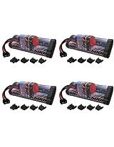 Venom 8.4V 5000mAh 7-Cell Hump NiMH Battery with Universal Plug (EC3/Deans/Traxxas/Tamiya) x4 Packs