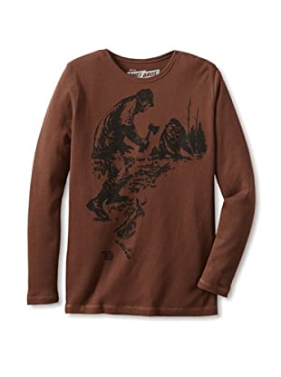 Ames Bros Men's Let's Dance Thermal Tee (Chocolate)
