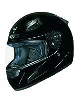 Vega X888 Full Face Helmet (Gloss Black, X-Large)