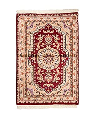 Qurama Teppich Kashmirian beige/rot 93X62