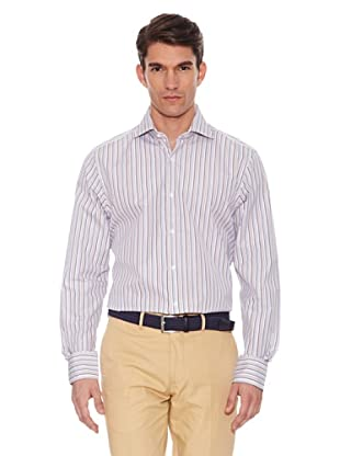 Hackett Camisa Rayas (Blanco / Marrón)