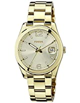 Fossil End-of-Season Perfect Bo Analog Gold Dial Women Watch -ES3586