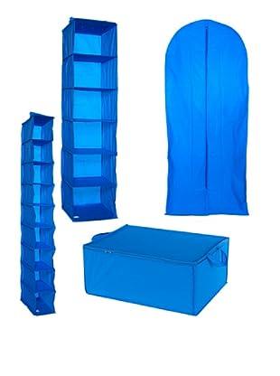 Compactor Set de 4 Organizadores de Armario Azul