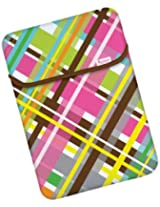 Macbeth Collection 15.6-Inch Reversible Sleeve, Party Plaid Confetti/Teeny Dot Chocolate (MB-XL2PP)