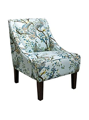 Skyline Swoop Arm Chair, Vintage Plumes Jade