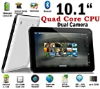Weize 10.1'' Google Android 4.2 Tablet MID Pc Allwinner Quad Core A31 CPU up to 1.5ghz 1gb Ram 8gb Hdd Multi-touch Screen Front Camera + Rear Camera Google Play Pre-installed Hdmi 1080p Output Skype Video Calling Netflix Flash Supported (Black)