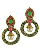 Ethnic Indian Bollywood Jewelry Set Traditional Fashion Imitation EarringsCHEA0214MG