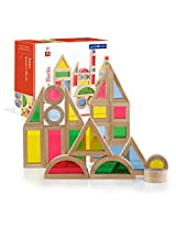 Guidecraft Jr. Rainbow Blocks: 40 Piece Set G3083