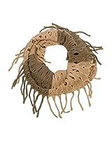 Open Knit Infinity Scarf (Tan)