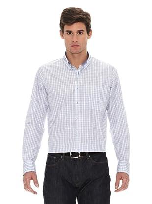Turrau Camisa Cuadro Pequeño (Gris / Azul)