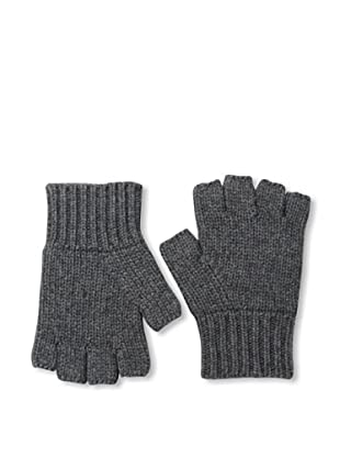 Sofia Cashmere Men's Fingerless Gloves (Charcoal)