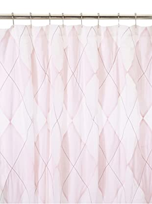 India Rose Argyle Shower Curtain, Pink/White, 72