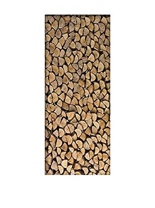 Ambiance Live Wandtattoo Door 204x83 cm - Firewood mehrfarbig