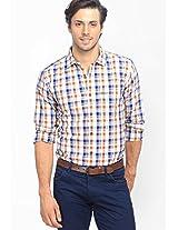 Checks Brown Casual Shirt Basics