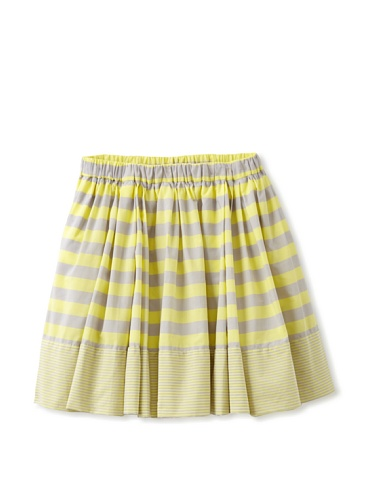 kicokids Girl's Striped Circle Skirt (Citrus)