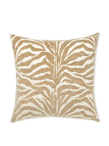Elsa Blue Camel Zebra Knife Edge Indoor/Outdoor Pillow, 20