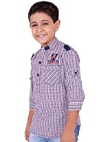 OK's Boys Adoring Orange Casual Cotton Shirt For Boys | OKS2556ORG