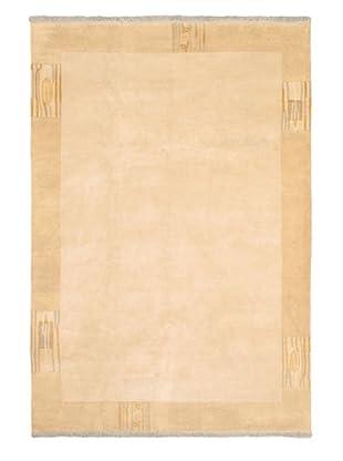 Hand-Knotted Karma Wool Rug, Beige, 6' 8