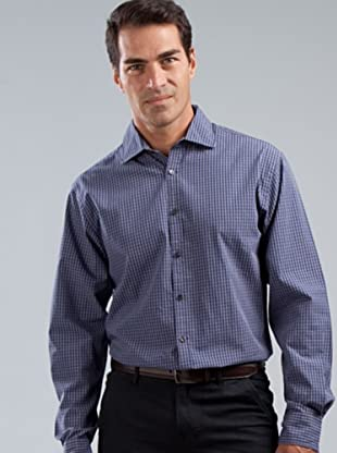 Cortefiel Camisa (azul / gris)