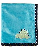 BON BEBE Baby-Boys Newborn Big Time Cute Plush Coral Fleece Blanket, Multi, New Born