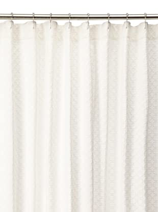 Chateau Blanc Solid Shower Curtain, White, 72