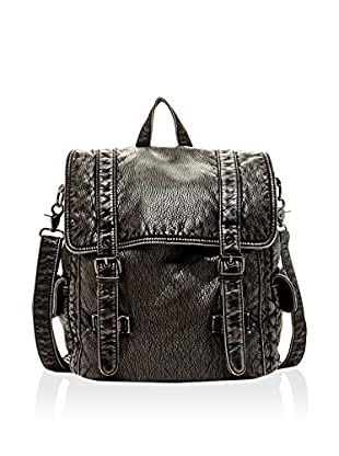 Pink Haley Women's Washed Faux Leather Classic Backpack, Grey, One Size