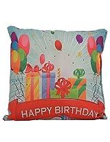 Twisha Happy Birthday Gifts Printed Pillow 12 X 12 X 4 Inch