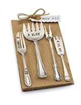 Mud Pie Circa Cocktail Fork Set, Silver