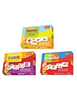 Krazy flash cards Set of 3(Opposite,Capital Alphabet,Colours)