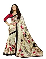 Beige Color Art Bahgalpur Silk Saree with Blouse 12540