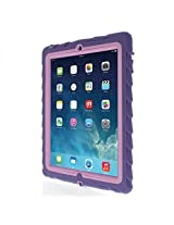 Apple iPad 2 iPad 3 iPad 4 Drop Tech Purple Gumdrop Cases Silicone Rugged Shock Absorbing Protective Dual Layer Cover Case