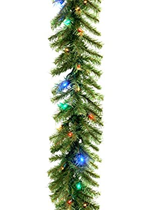 National Tree Company 9' Norwood Fir Garland with Multi-Lights
