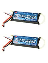 Venom 100 C 4 S 5000m Ah 14.8v Water Cooled Marine 4 Cell Li Po Battery X2 Packs