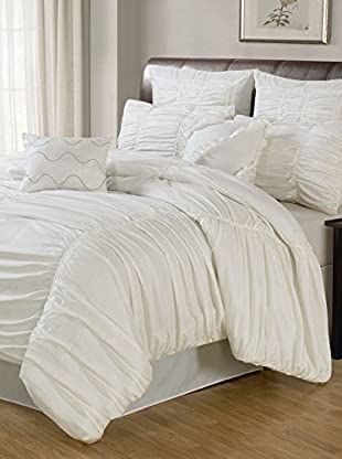 Luxury Home Ruched 8-Piece Comforter Set