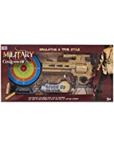 Fab N Funky - Golden Military Couipmcnt Gun Toy With Sound And Green Target