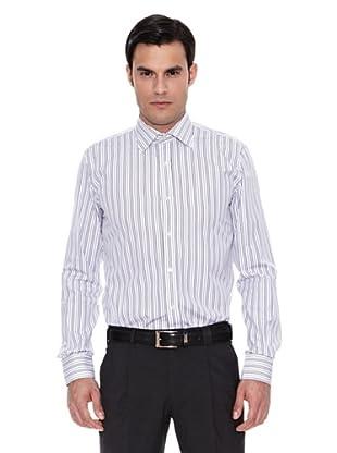 Pedro del Hierro Camisa Moda Vestir T.Masonth.M. Raya (Marrón Oscuro)