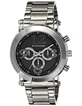 Giordano Analog Black Dial Men's Watch - Technograph BLK