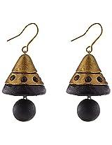 Avarna Terracotta Jhumki Hanging Earrings Jha0002 For Women (Black )