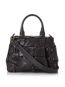 Ruthie Davis Women's Convertible Strappy Handbag (Grey/Gunmetal)