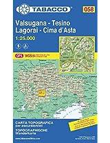 Valsugana / Tesino 058 Lagorai / Cima d'Asta GPS 2015: TAB.058