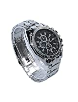 Dayan Men's Stainless Steel Belt Sport Business Quartz Dress Wrist Watch - Black